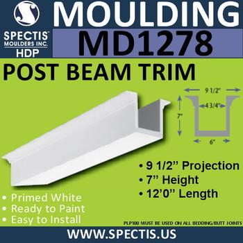 "MD1278 Spectis Molding Post Beam Trim 6""W x 7""H x 144""L"