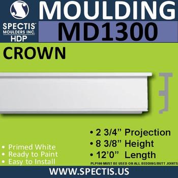 """MD1300 Spectis Molding Case Trim 2 3/4""""P x 8 3/8""""H x 144""""L"""