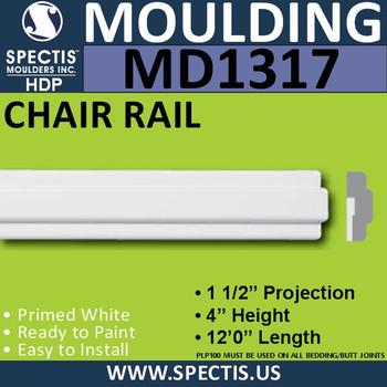 "MD1317 Spectis Molding Nose Trim 1 1/2""P x 4""H x 144""L"