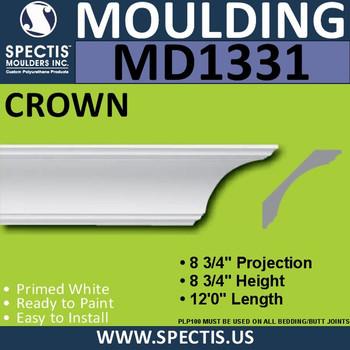 """MD1331 Spectis Crown Molding Trim 9""""P x 9""""H x 144""""L"""