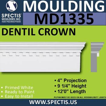 """MD1335 Spectis Molding Head Trim 4""""P x 9 1/4""""H x 144""""L"""