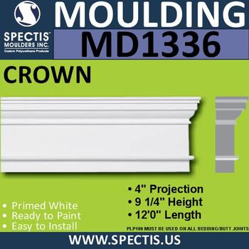 """MD1336 Spectis Molding Head Trim 4""""P x 9 1/4""""H x 144""""L"""