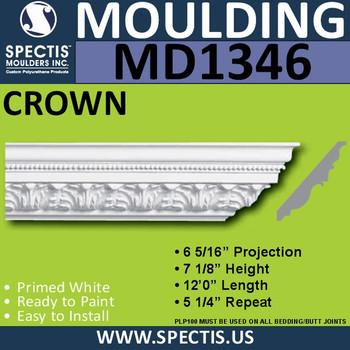 """MD1346 Spectis Crown Molding Trim 6 5/16""""P x 7 1/8""""H x 144""""L"""