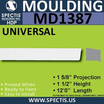 """MD1387 Spectis Window Sill Trim 1 5/8""""P x 1 1/2""""H x 144""""L"""