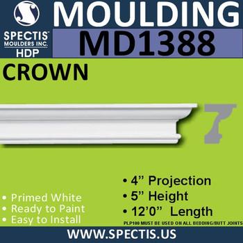 """MD1388 Spectis Crown Molding Trim 4""""P x 5""""H x 144""""L"""