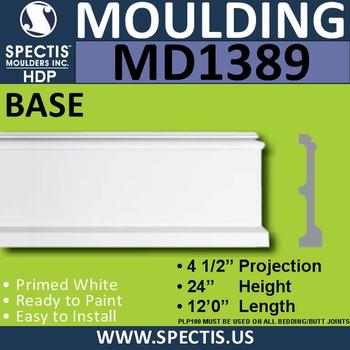 """MD1389 Spectis Molding Base Trim 4 1/2""""P x 24""""H x 144""""L"""