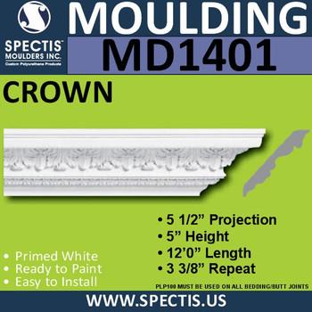 """MD1401 Spectis Crown Molding 6 7/8""""P x 6 1/8""""H x 139 1/2""""L"""
