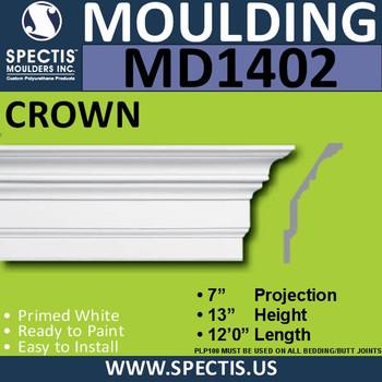 """MD1402 Spectis Crown Molding 7""""P x 13""""H x 144""""L"""