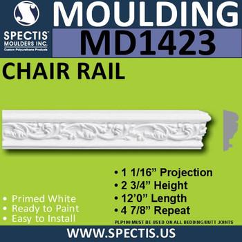 """MD1423 Spectis Molding Case 1 1/16""""P x 2 3/4""""H x 144""""L"""
