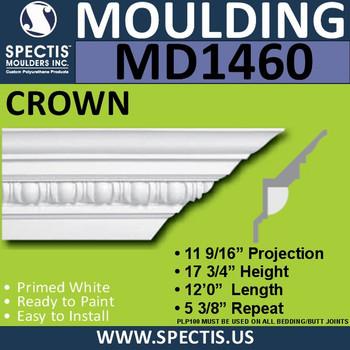 """MD1460 Spectis Crown Molding 12 5/16""""P x 18 7/8""""H x 144""""L"""