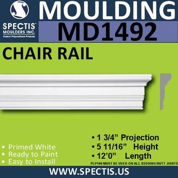 """MD1492 Spectis Molding Base Trim 1 3/4""""P x 5 11/16""""H x 144""""L"""