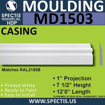 """MD1503 Spectis Molding Base Trim 1""""P x 5 1/2""""H x 144""""L"""