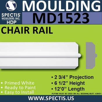 """MD1523 Spectis Molding Plant On Trim 2 3/4""""P x 6 1/2""""H x 144""""L"""