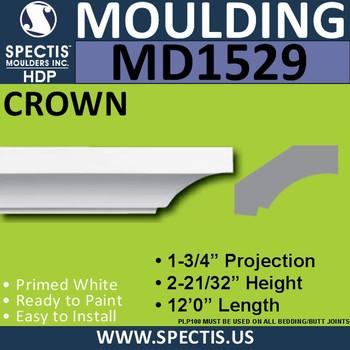 """MD1529 Spectis Crown Molding 2 11/16""""P x 1 13/16""""H x 144""""L"""