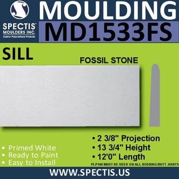 "MD1533FS Spectis Fossil Stone Sill 2 1/4""P x 11 1/2""H x 144""L"