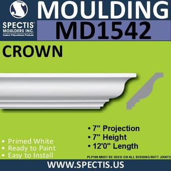 """MD1542 Spectis Crown Molding Trim 7""""P x 7""""H x 144""""L"""