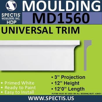 """MD1560 Spectis Molding Base Trim 3""""P x 12""""H x 144""""L"""