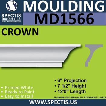 """MD1566 Spectis Crown Molding Trim 6""""P x 7 1/2""""H x 144""""L"""