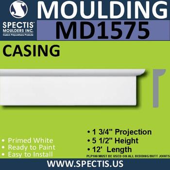 """MD1575 Spectis Molding Base Trim 1 3/4""""P x 5 1/2""""H x 144""""L"""