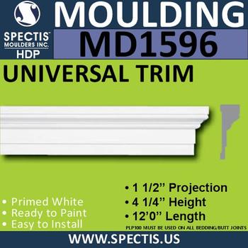 """MD1596 Spectis Molding Base Cap Trim 1 1/2""""P x 4 1/4""""H x 144""""L"""