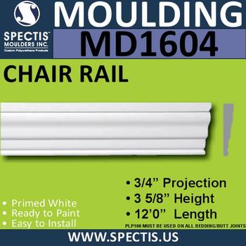 """MD1604 Spectis Molding Case Trim 3/4""""P x 3 5/8""""H x 144""""L"""