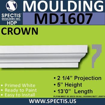 """MD1607 Spectis Crown Molding Trim 2 1/4""""P x 5""""H x 156""""L"""