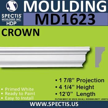 """MD1623 Spectis Molding Cap Trim 1 7/8""""P x 4 1/4""""H x 144""""L"""