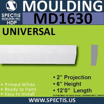 """MD1630 Spectis Molding Case Trim 6""""P x 2""""H x 144""""L"""
