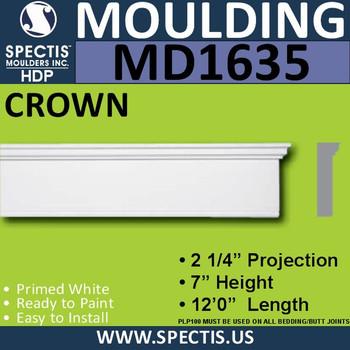 """MD1635 Spectis Molding Base Trim 2 1/4""""P x 7""""H x 144""""L"""
