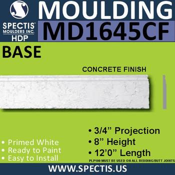 """MD1645CF Spectis Molding Concrete Finish 3/4""""P x 8""""H x 144""""L"""