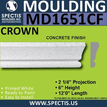 """MD1651CF Spectis Concrete Finish Cap 2 1/4""""P x 6""""H x 144""""L"""
