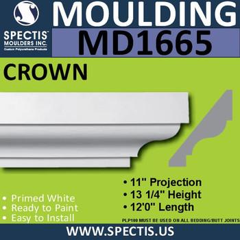 """MD1665 Spectis Crown Molding Trim 11""""P x 13 1/4""""H x 144""""L"""