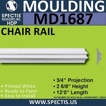 "MD1687 Spectis Molding Plant On Trim 3/4""P x 1 1/8"" x 144""L"