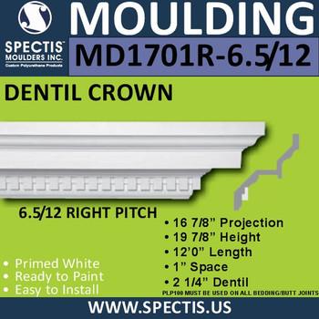"MD1701R-6.5/12 Pitch Spectis Crown 16.87""P x 19.87""H x 144""L"