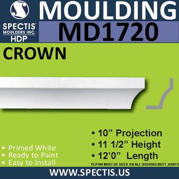 """MD1720 Spectis Crown Molding Trim 10""""P x 11 1/2""""H x 144""""L"""