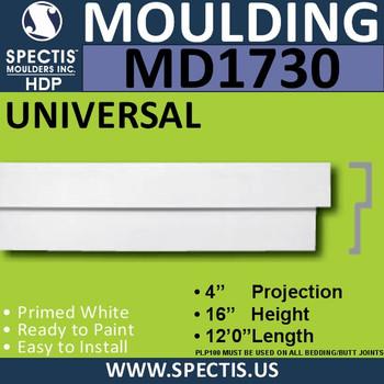 """MD1730 Spectis Molding Cap Trim 4""""P x 16""""H x 144""""L"""