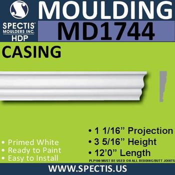 """MD1744 Spectis Molding Case Trim 1 1/16""""P x 3 15/16""""H x 144""""L"""