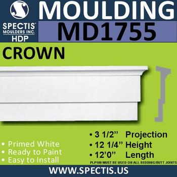 """MD1755 Spectis Molding Base Trim 3 1/2""""P x 2' 4""""H x 144""""L"""