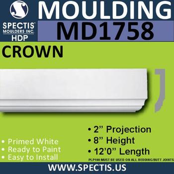 """MD1758 Spectis Molding Base Trim 2""""P x 8""""H x 144""""L"""