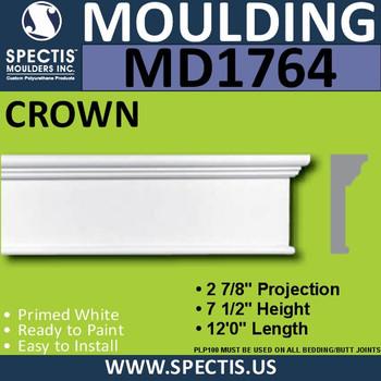 """MD1764 Spectis Molding Cap Trim 2 7/8""""P x 7 1/2""""H x 144""""L"""