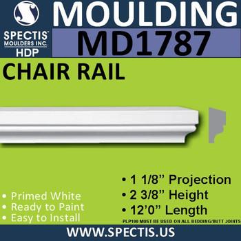 """MD1787 Spectis Molding Cap Trim 1 1/8""""P x 2 3/8""""H x 144""""L"""