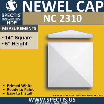 "NC2310 Urethane Newel Cap 14"" W x 5"" H"