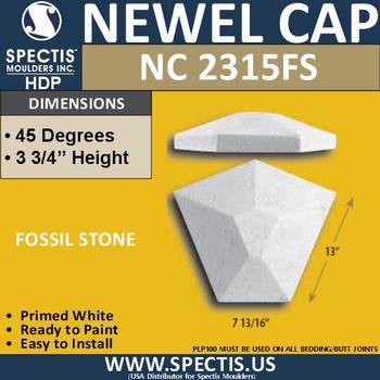 """NC2315FS Fossil Stone Newel Cap 3.75"""" W x 4"""" H"""