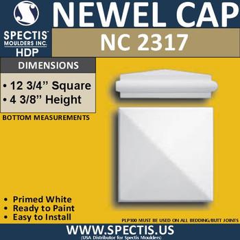 "NC2317 Urethane Newel Cap 12.75"" W x 4.4"" H"