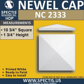 "NC2333 Urethane Newel Cap 10.75"" W x 1.75"" H"