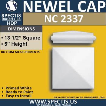 "NC2337 Urethane Newel Cap 13.5"" W x 5"" H"
