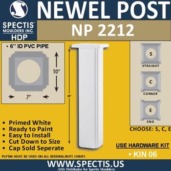 "NP2212 Urethane Newel Post 10"" W x 48"" H"