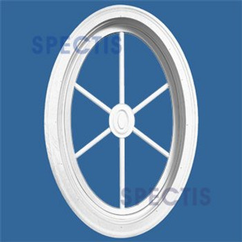 """OVAL2032SG 22 1/2"""" x 34 1/4"""" Oval Window with Starburst Grill"""