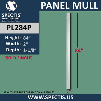 "PL284P Panel Mull Pilaster from Spectis Urethane 2"" x 84"""