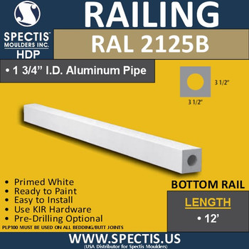 "RAL2125B 3 1/2"" Wide Smooth Finish Bottom Rail 8'-10'-12'"